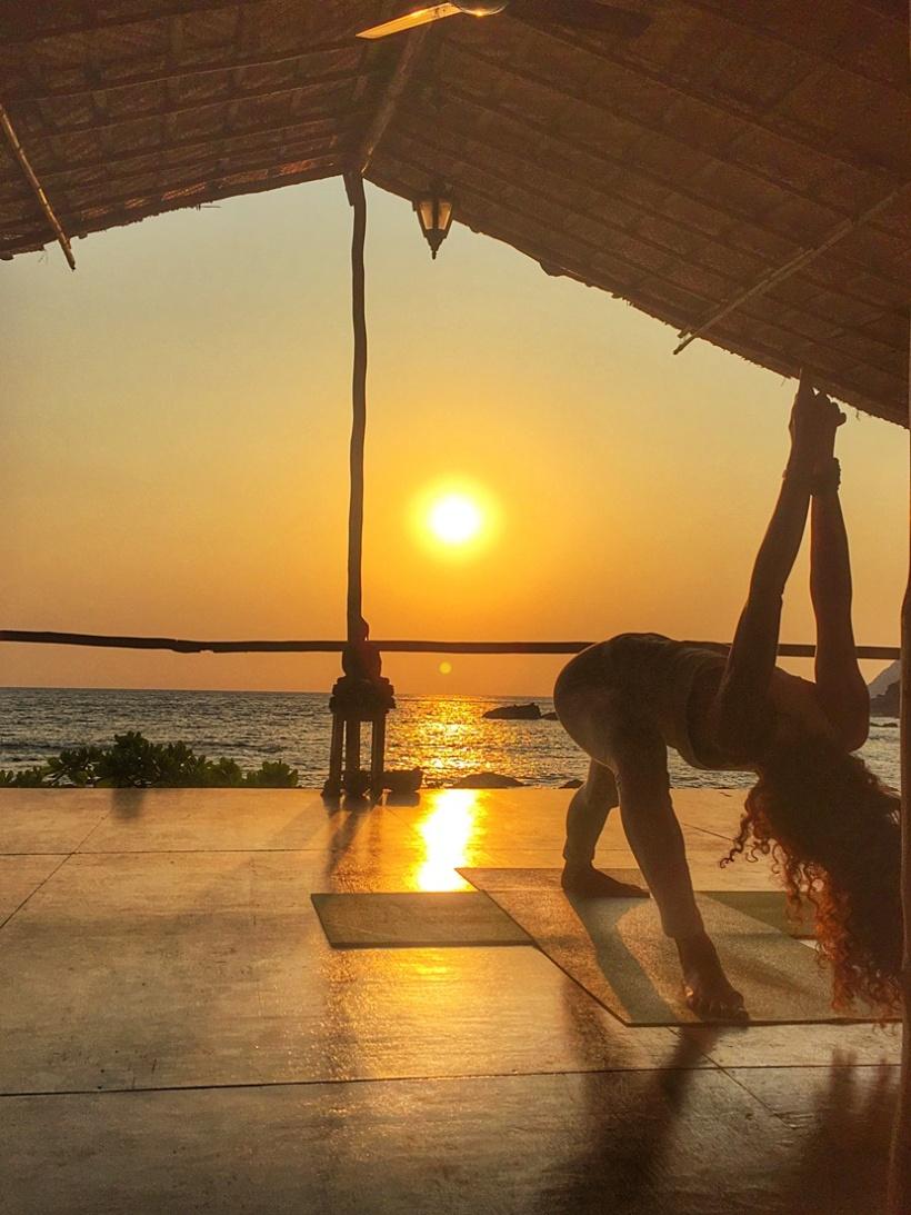 Yoga in Goa, India.