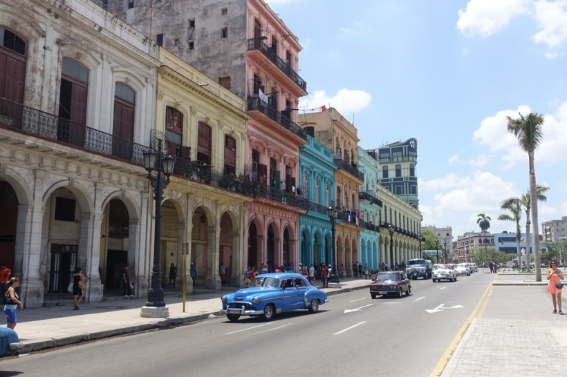 The colorful streets of Havana, Cuba.