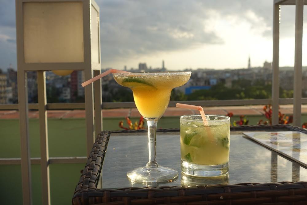 Rooftop drinks. Havana, Cuba.