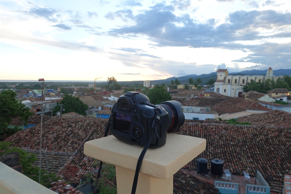 Camera on point in Trinidad, Cuba.