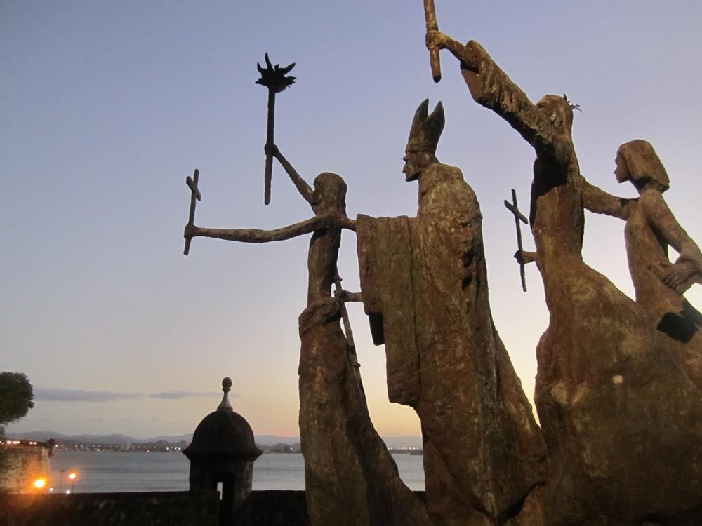 Regal statues in San Juan, Puerto Rico.