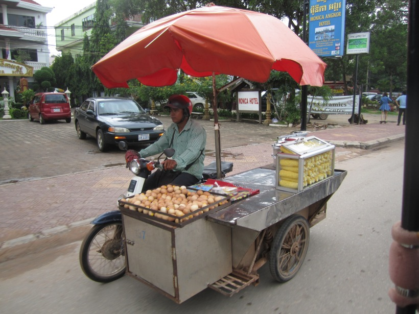 A Cambodian-style food truck in Siem Reap.