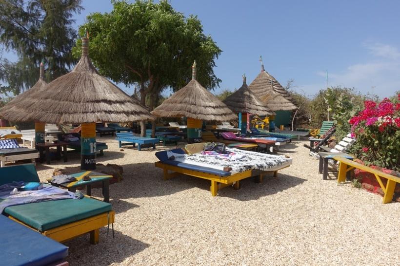 Beach chairs at the Rasta Bar.