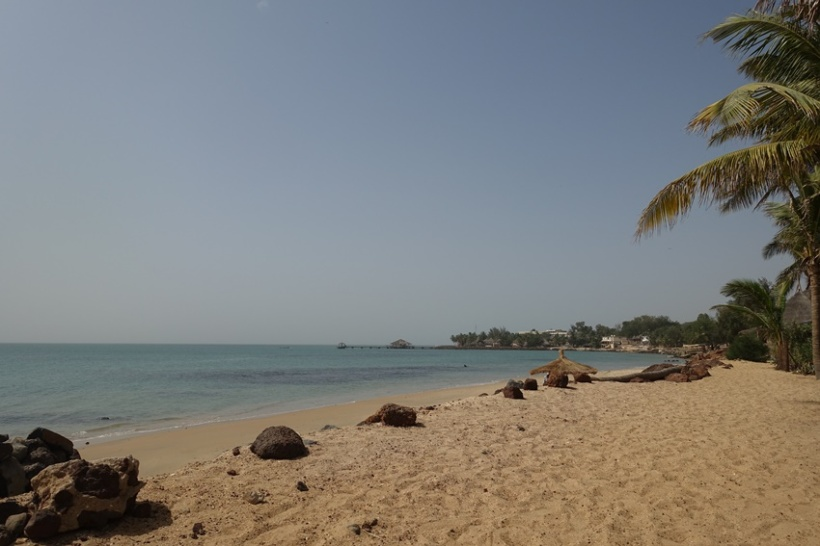 The beach in Saly.