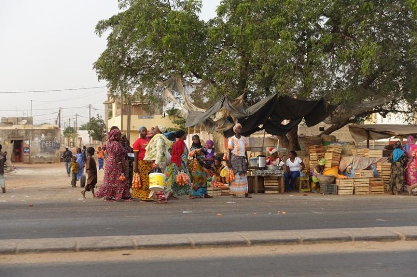 Market scenes in Saly.